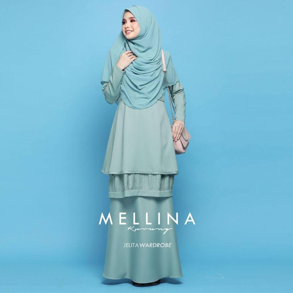 KURUNG MODEN MUSLIMAH MELLINA TIFFANY GREEN 2