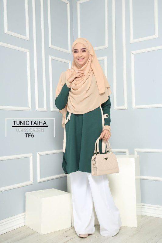 TUNIC MUSLIMAH TERKINI CREPE FAIHA TF06 1