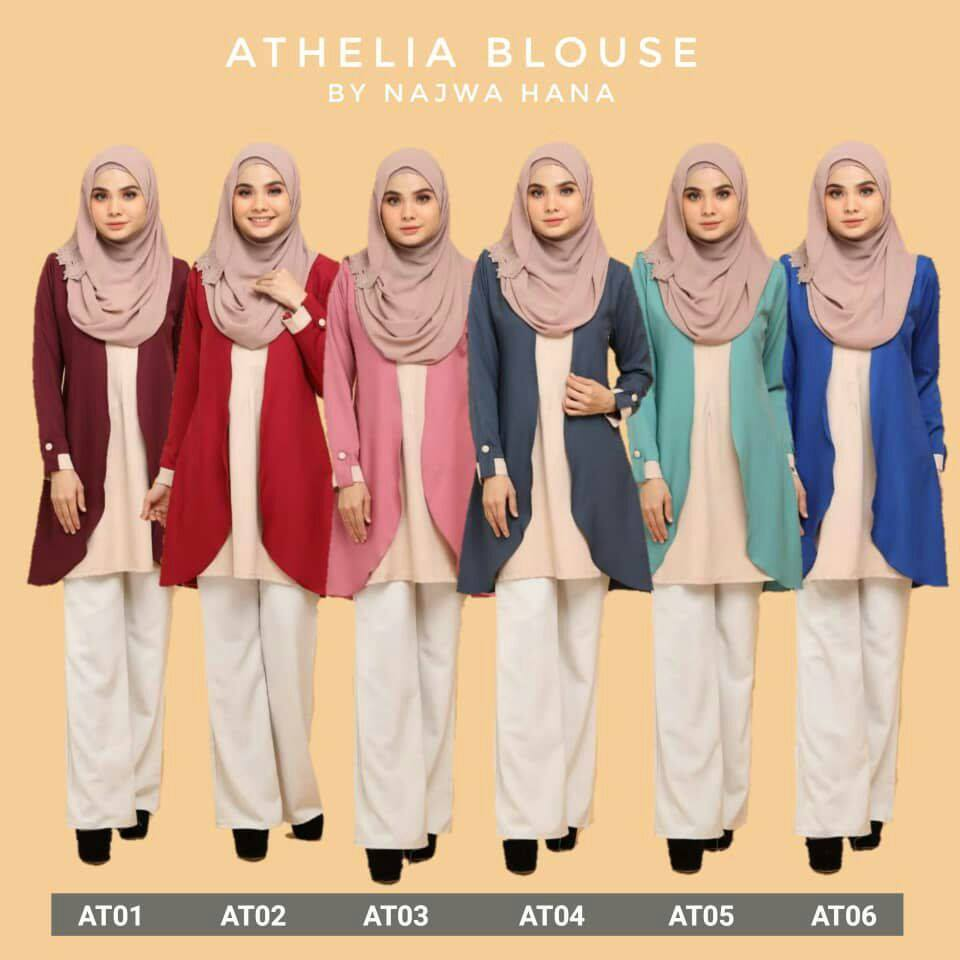 BLOUSE MUSLIMAH CREPE ATHELIA ALL
