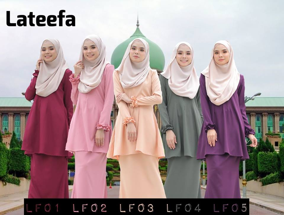 KURUNG MODEN LATEEFA POLY CREPE LF ALL