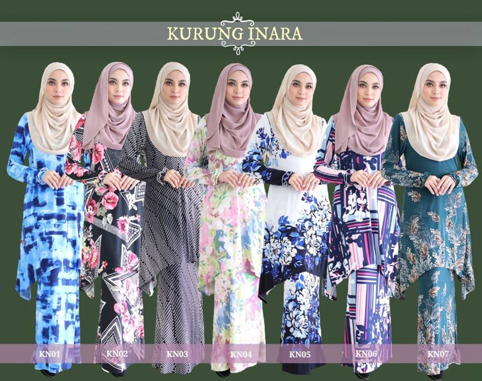 KURUNG MODEN LYCRA IRONLESS INARA ALL