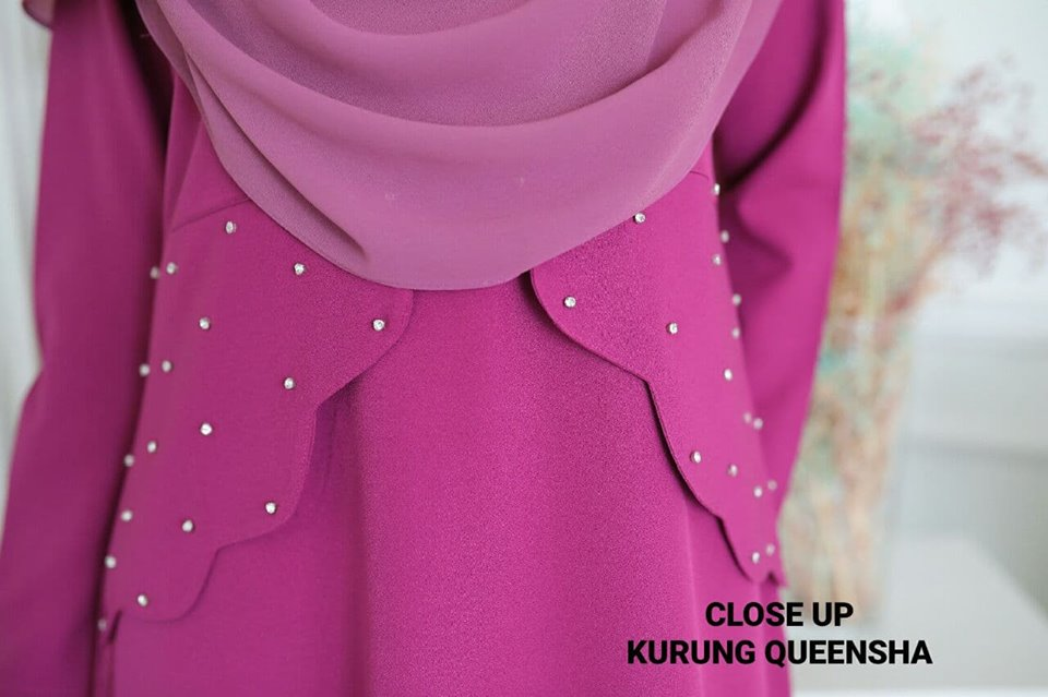 KURUNG MODEN MUSLIMAH CREPE QUEENSHA CLOSE UP 1
