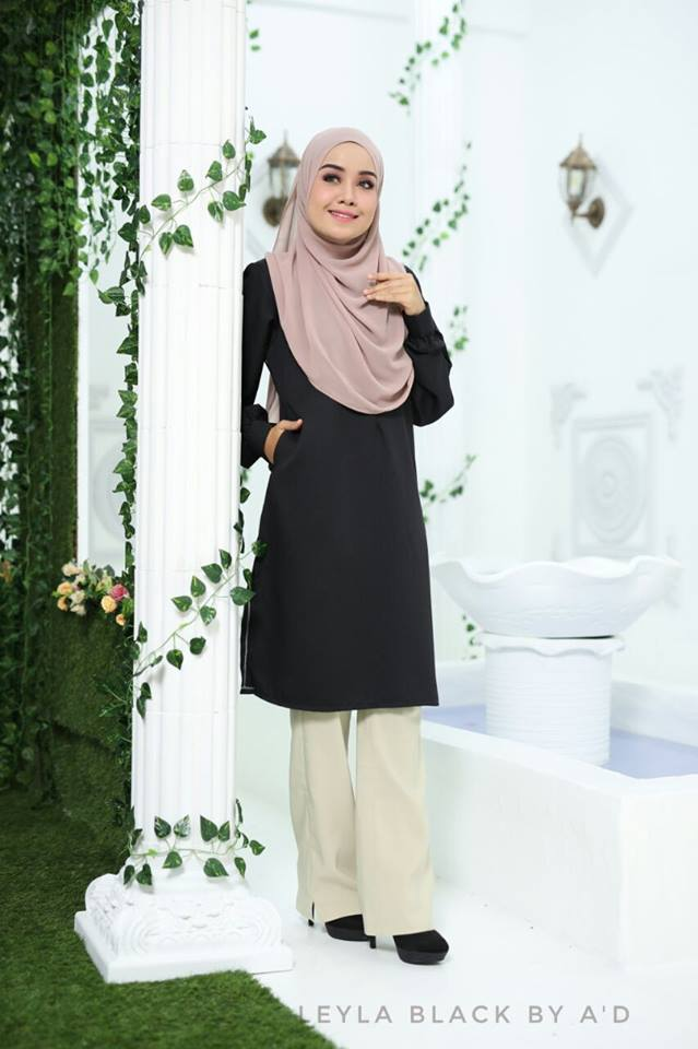 BLOUSE CREPE LEYLA BLACK 1