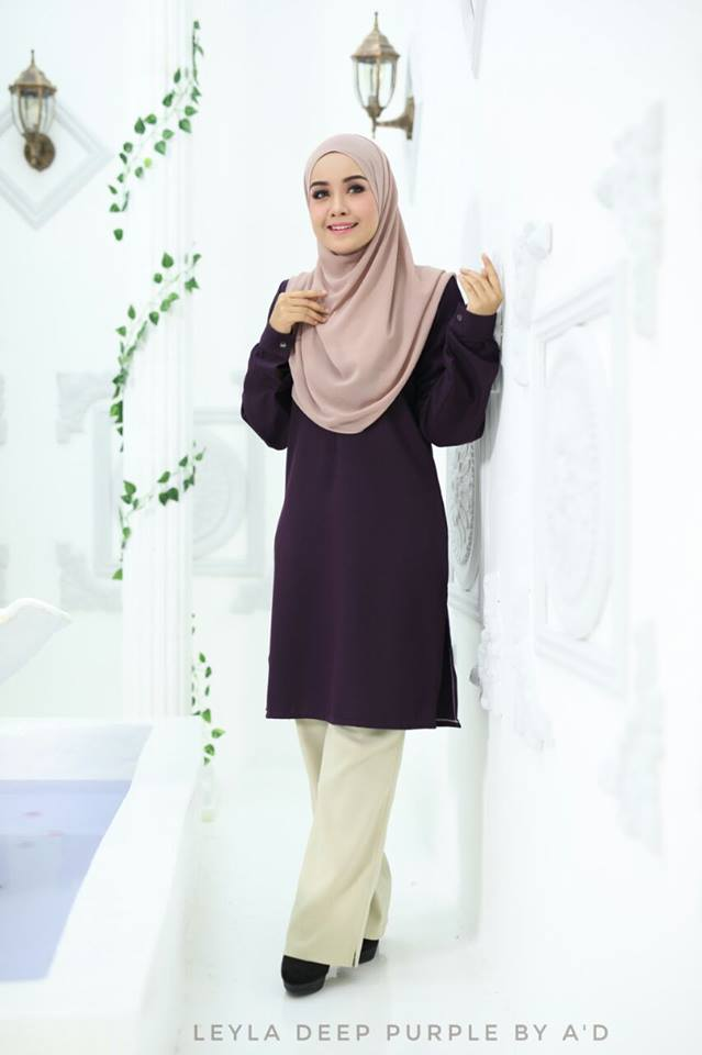 BLOUSE CREPE LEYLA DEEP PURPLE 1