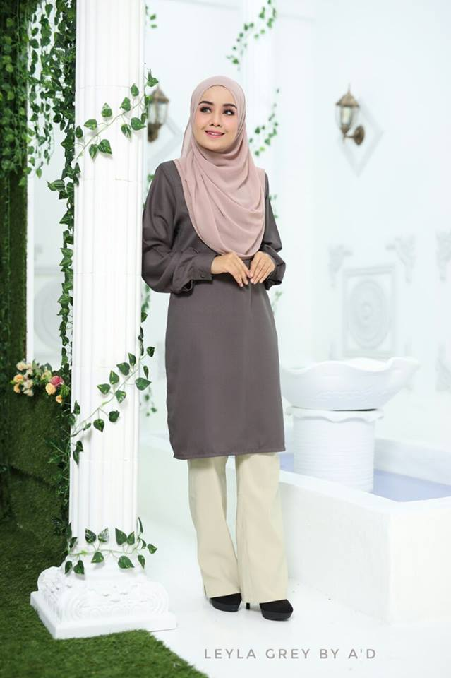 BLOUSE CREPE LEYLA GREY 1
