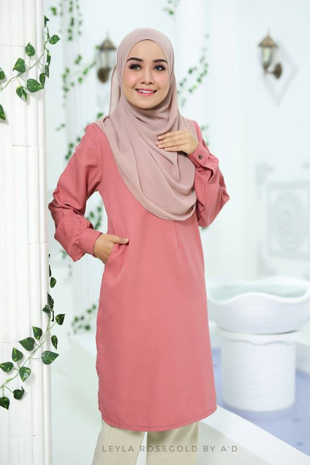 BLOUSE CREPE LEYLA ROSE GOLD 2