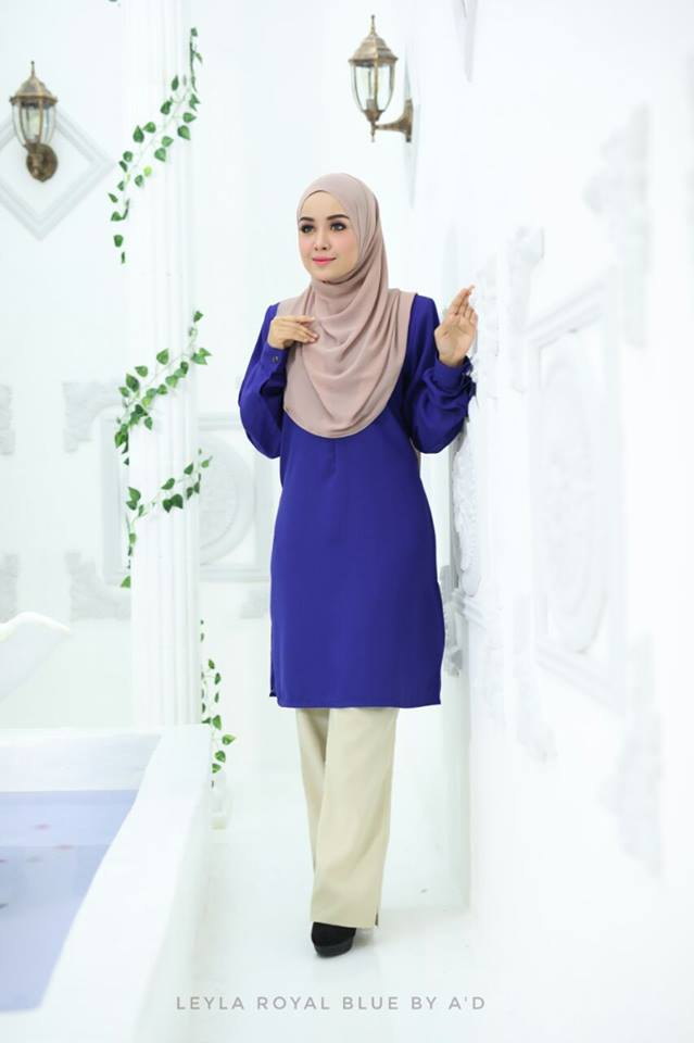 BLOUSE CREPE LEYLA ROYAL BLUE 1