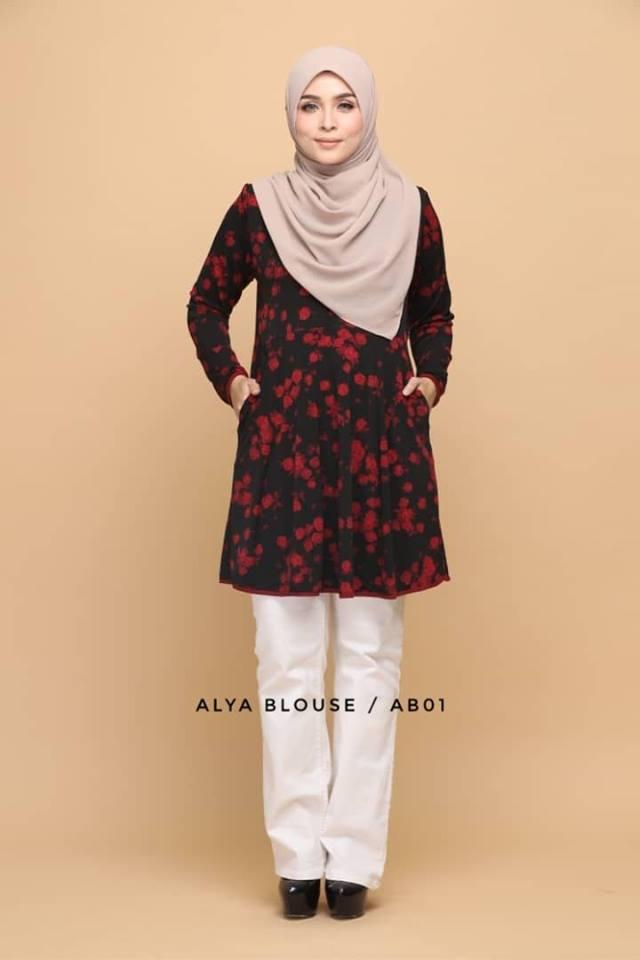 BLOUSE LYCRA MUSLIMAH ALYA AB001 1
