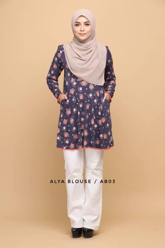 BLOUSE LYCRA MUSLIMAH ALYA AB003 1
