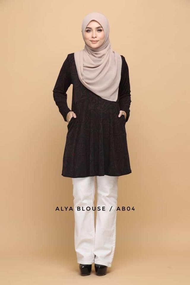 BLOUSE LYCRA MUSLIMAH ALYA AB004 1