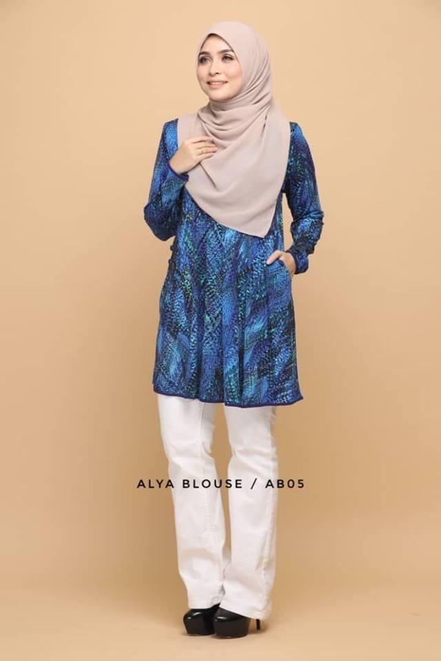 BLOUSE LYCRA MUSLIMAH ALYA AB005 1