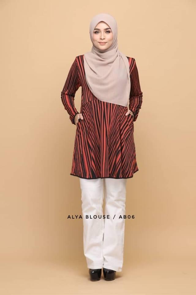 BLOUSE LYCRA MUSLIMAH ALYA AB006 1