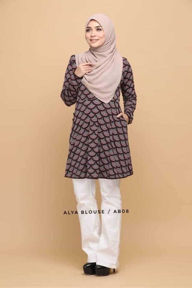BLOUSE LYCRA MUSLIMAH ALYA AB008 1