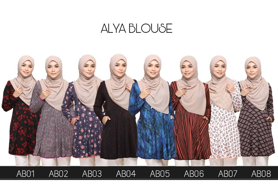 BLOUSE LYCRA MUSLIMAH ALYA ALL
