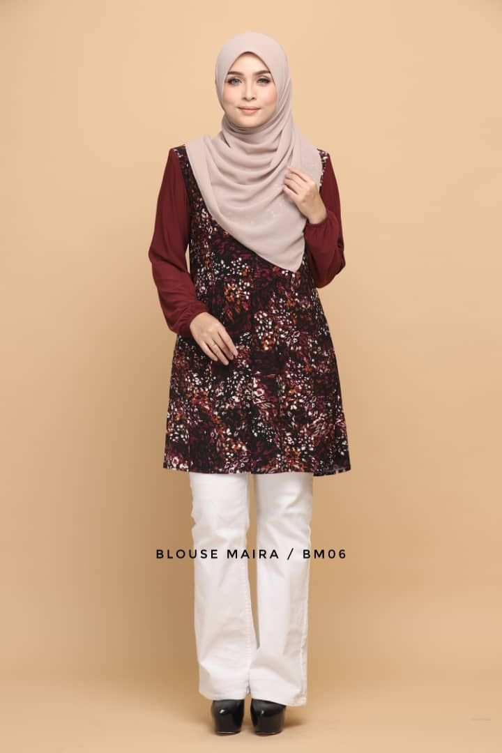 BLOUSE MAIRA LYCRA IRONLESS TRAVEL FRIENDLY BM06 1