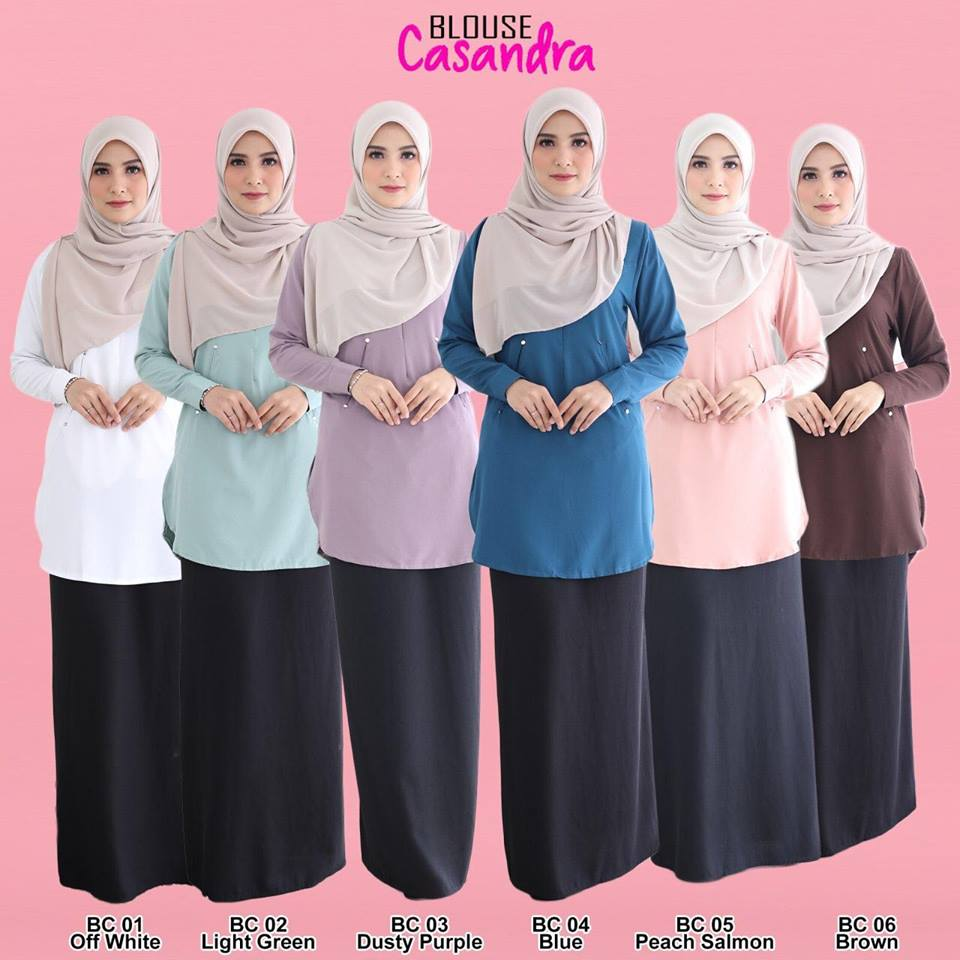 BLOUSE MUSLIMAH CREPE CASSANDRA ALL