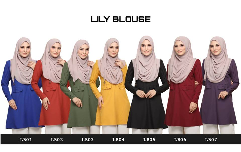BLOUSE MUSLIMAH MODEN CREPE LILY LB ALL
