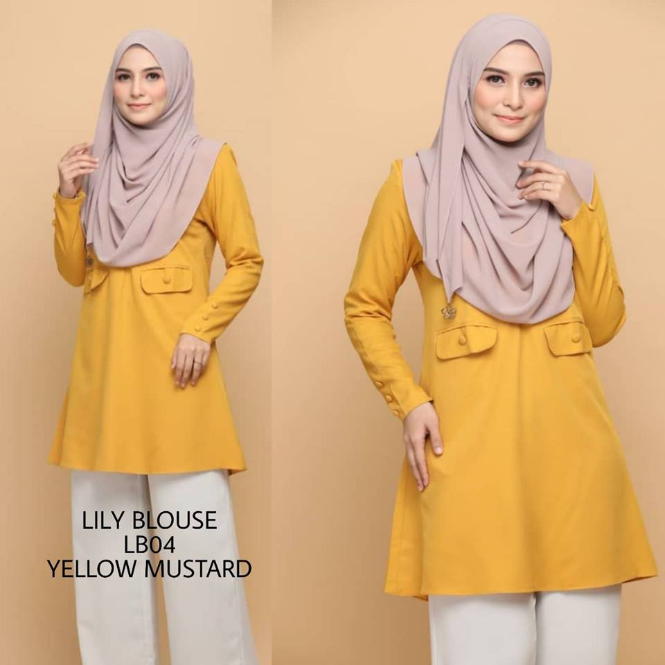 BLOUSE MUSLIMAH MODEN CREPE LILY LB04 2
