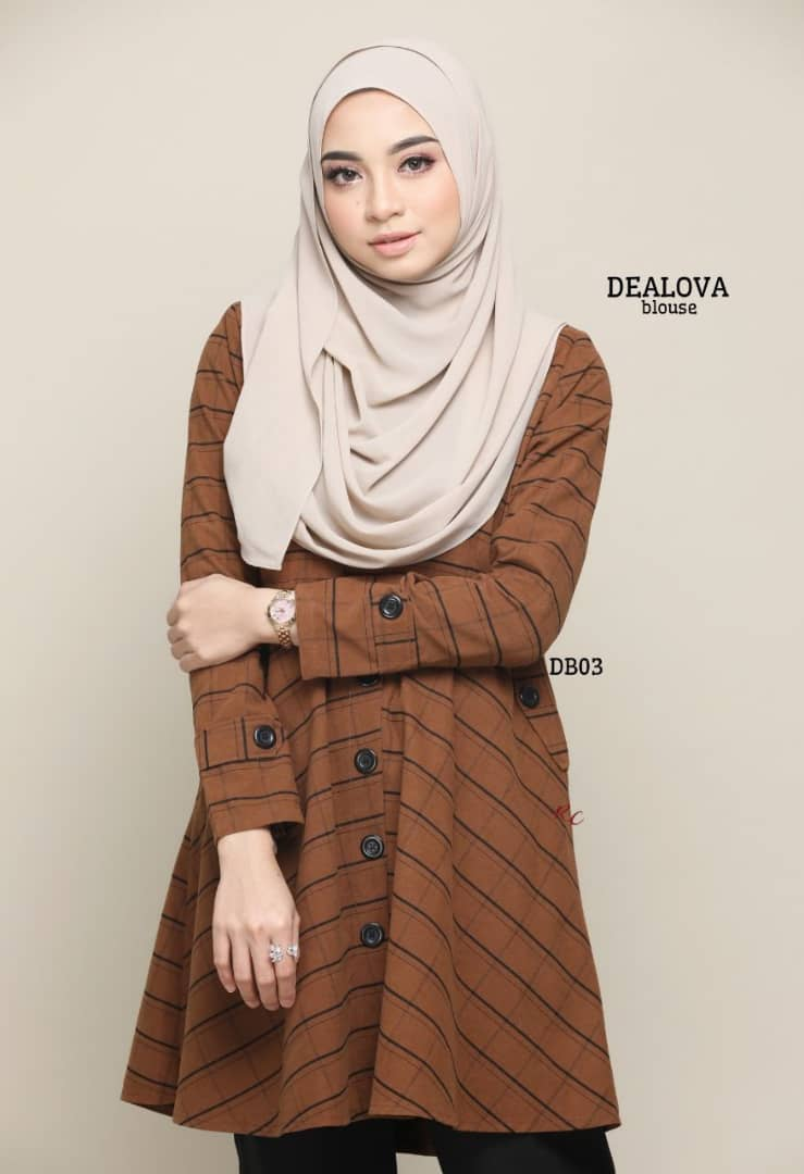 BLOUSE MUSLIMAH TERKINI COTTON DEALOVA DB03 1