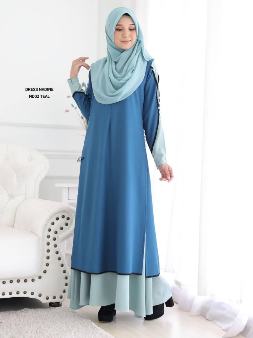 DRESS MUSLIMAH TERKINI CREPE NADINE ND02 1