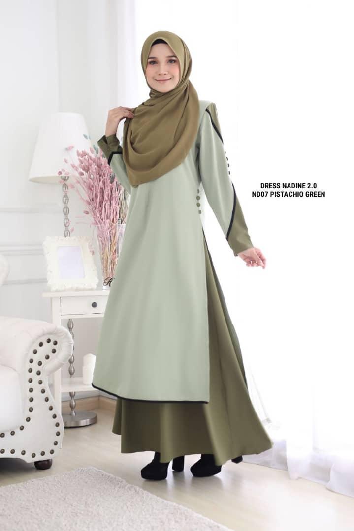 DRESS MUSLIMAH TERKINI NADINE PREMIUM CREPE ND07 2