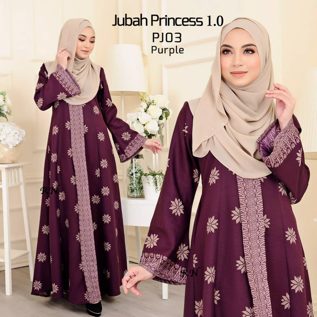 JUBAH MUSLIMAH SONGKET TERKINI PRINCESS PJ03