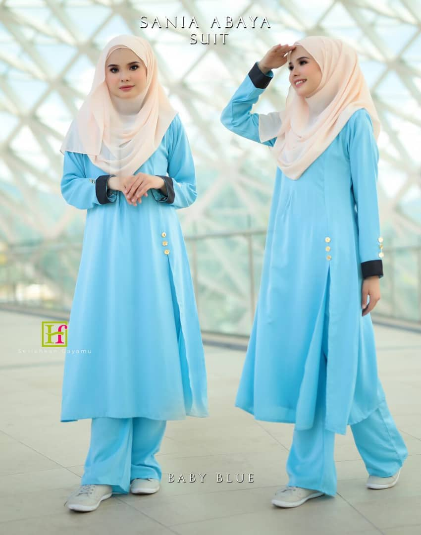 ABAYA SUIT SANIA BABY BLUE