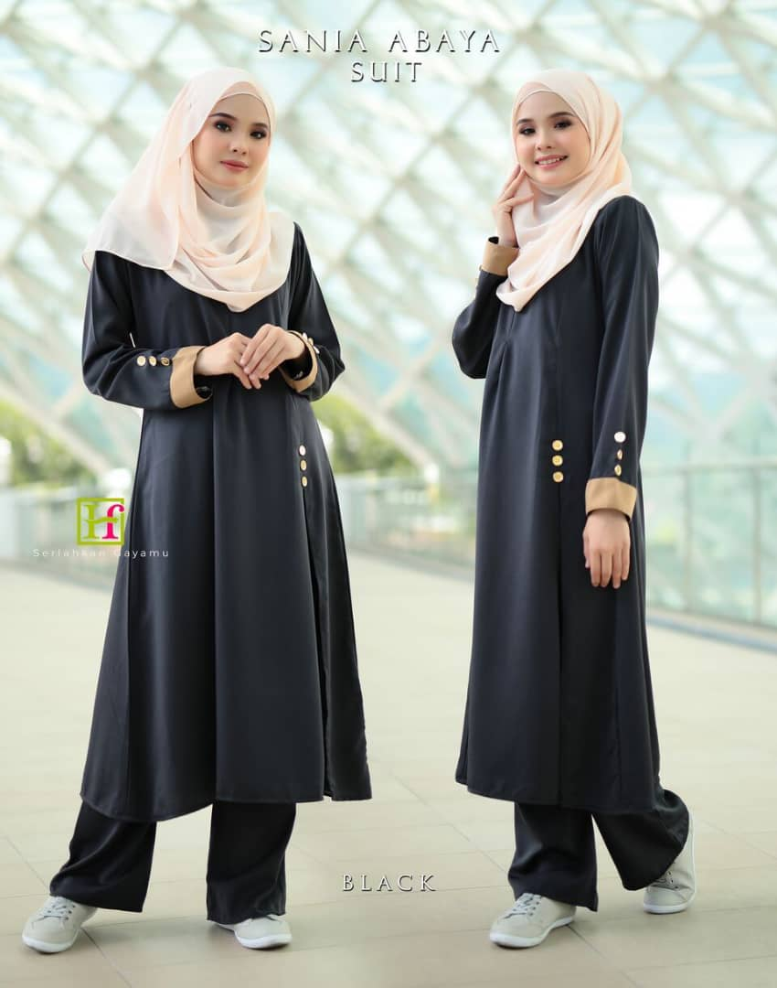 ABAYA SUIT SANIA BLACK 1