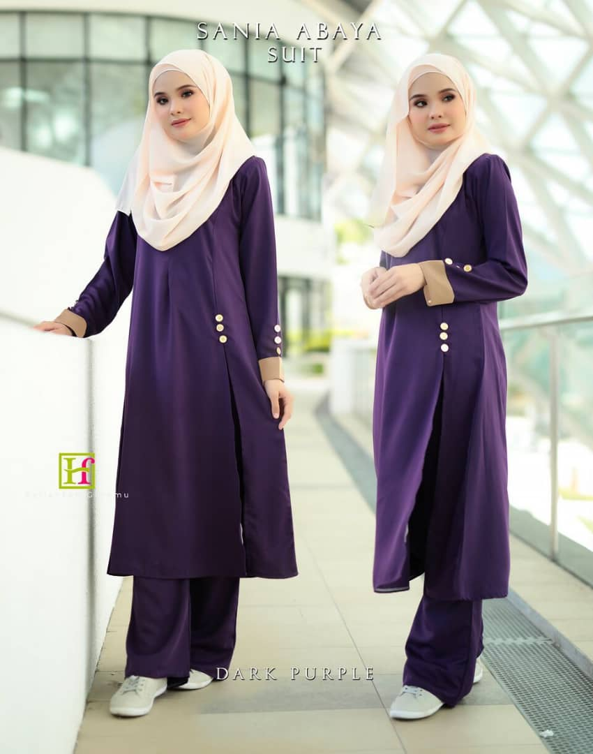 ABAYA SUIT SANIA DARK PURPLE 1