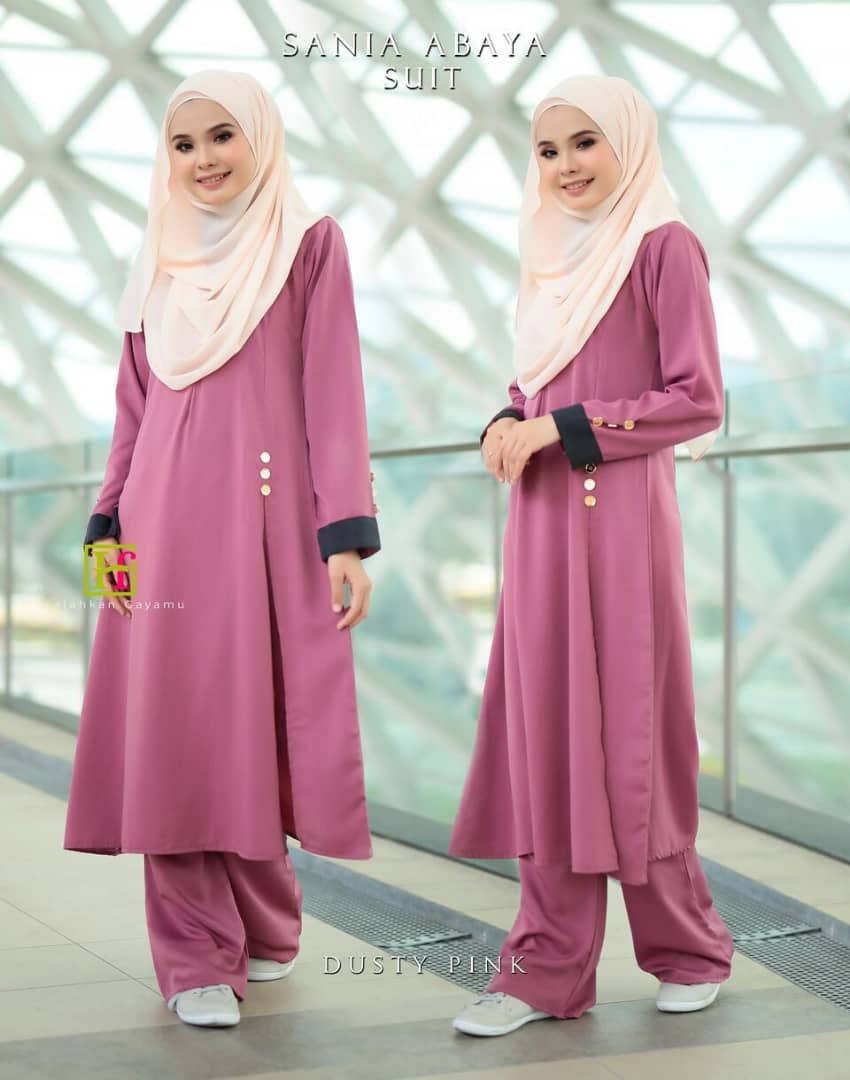 ABAYA SUIT SANIA DUSTY PINK