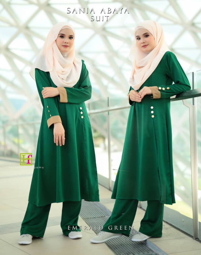 ABAYA SUIT SANIA EMERALD GREEN