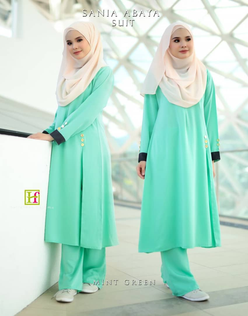 ABAYA SUIT SANIA MINT GREEN 1