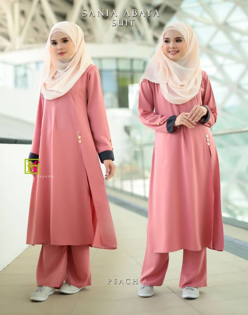 ABAYA SUIT SANIA PEACH 1