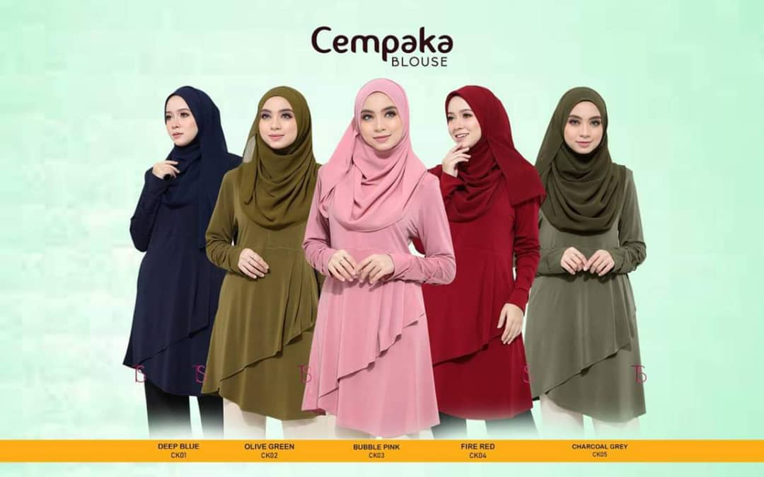 BLOUSE MUSLIMAH IRONLESS CEMPAKA CK ALL