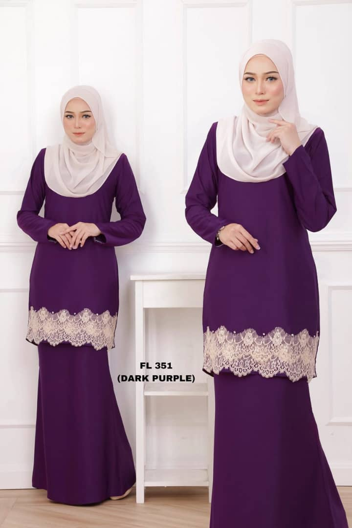 KURUNG MODEN LACE FILYA PURPLE