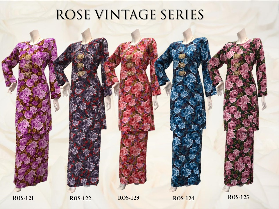 KURUNG PAHANG ROSE VINTAGE SERIES KOD RVE ALL