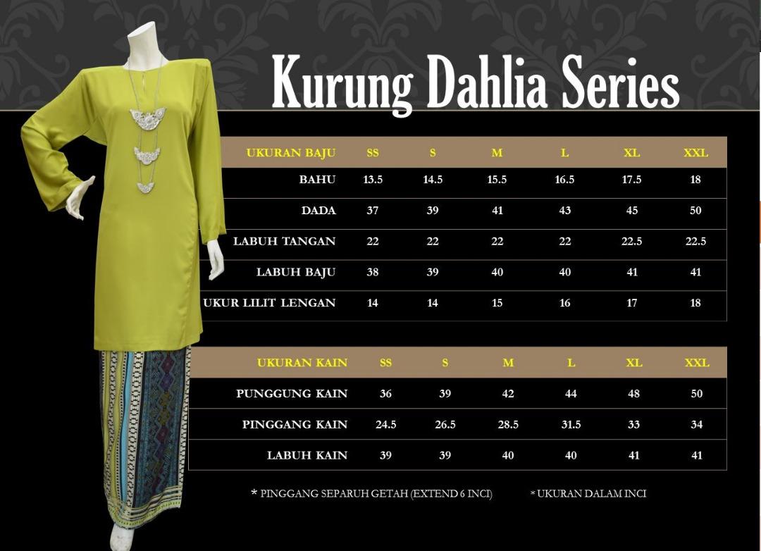 KURUNG PAHANG TRADISIONAL DAHLIA SERIES KDS UKURAN