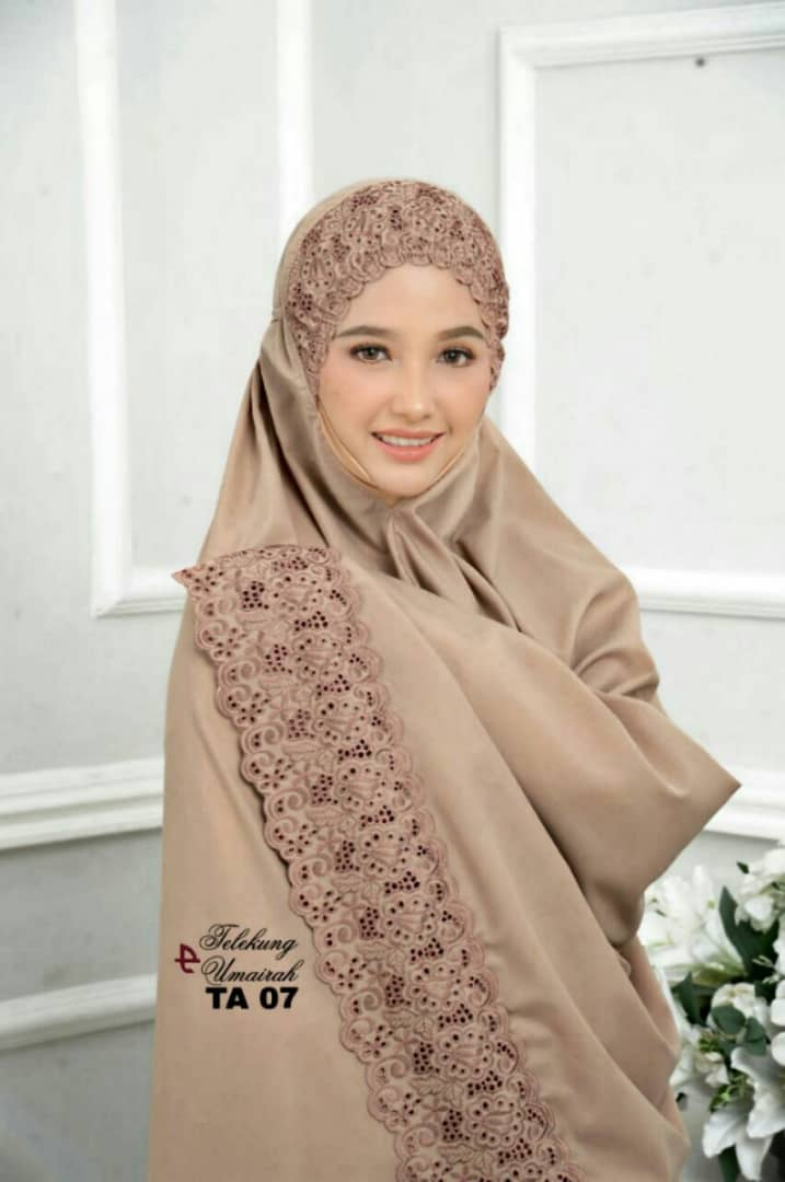 TELEKUNG COTTON RENDA EKSKLUSIF UMAIRAH BROWN 3