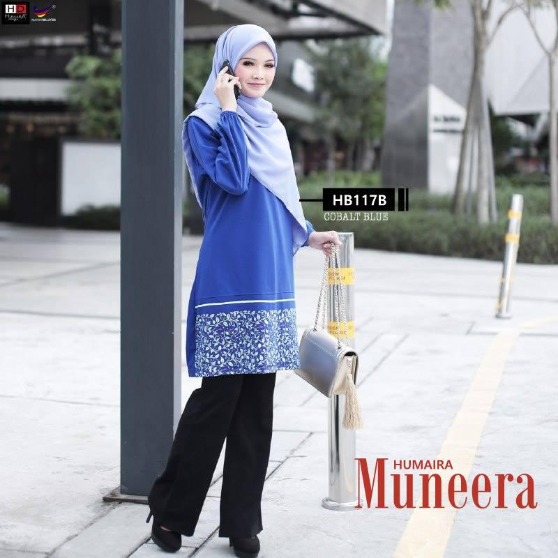 TSHIRT MUSLIMAH COTTON TERKINI MUNEERA HB117B