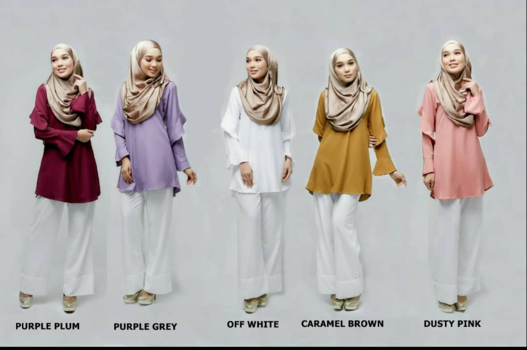 ZAARA LONG SLEEVE MUSLIMAH BLOUSE ALL