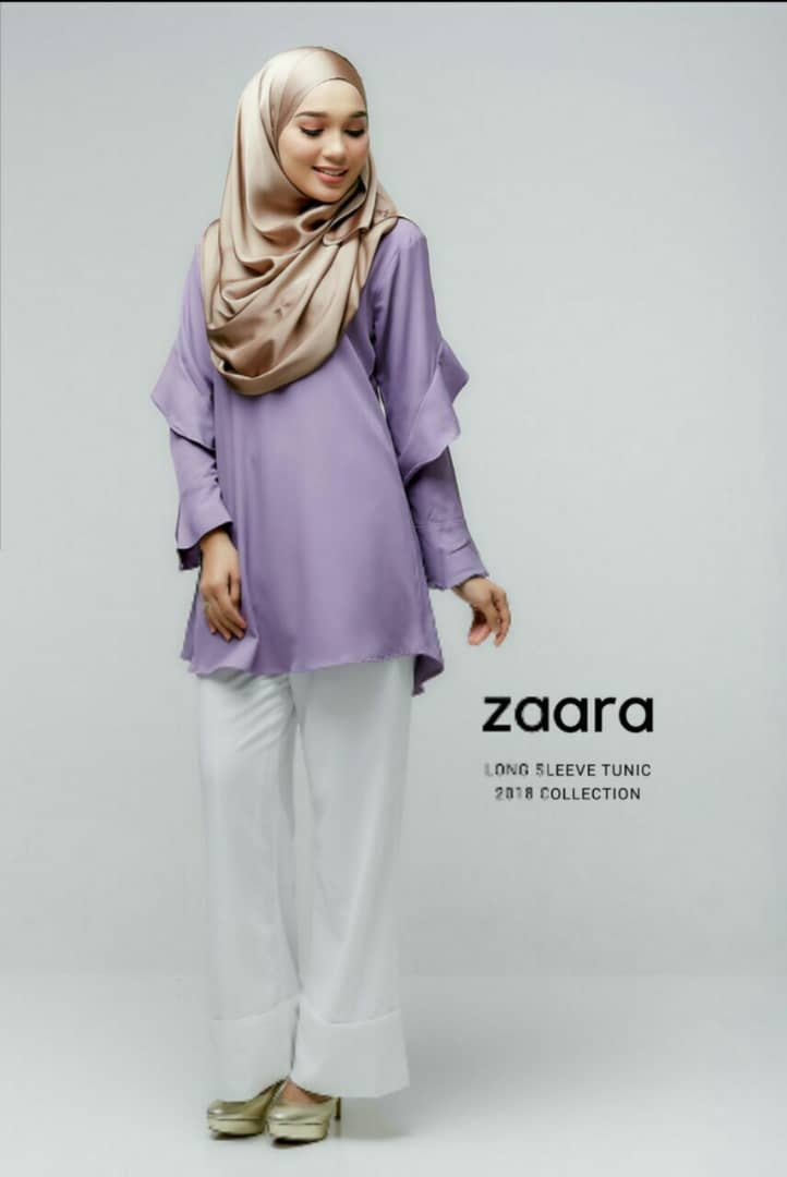 ZAARA LONG SLEEVE MUSLIMAH BLOUSE D PURPLE