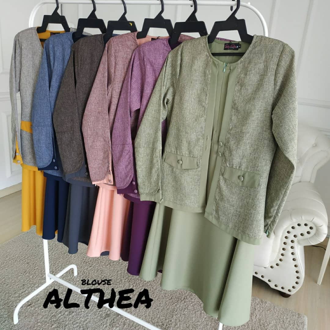 BLOUSE MUSLIMAH 2019 MODEN ALTHEA ALL 2