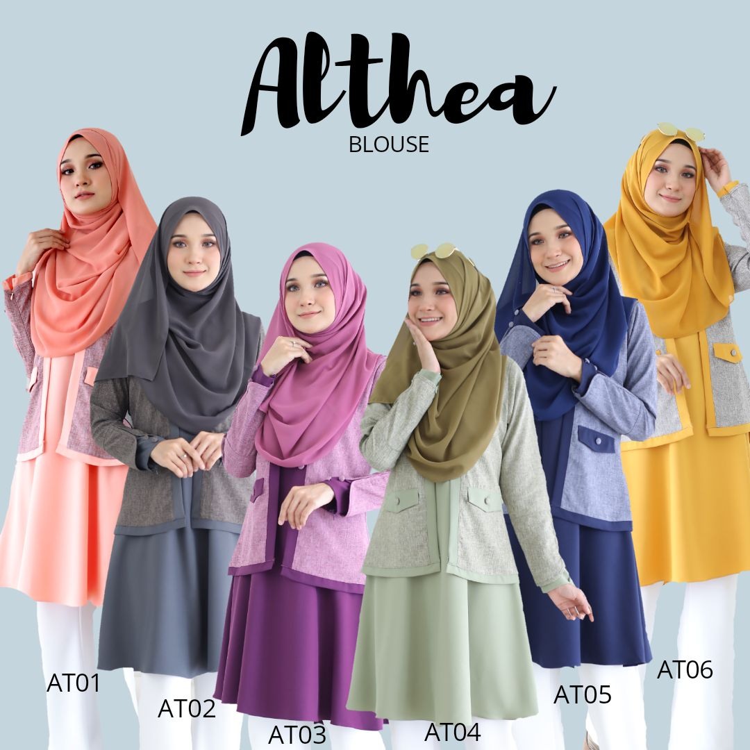 BLOUSE MUSLIMAH 2019 MODEN ALTHEA ALL