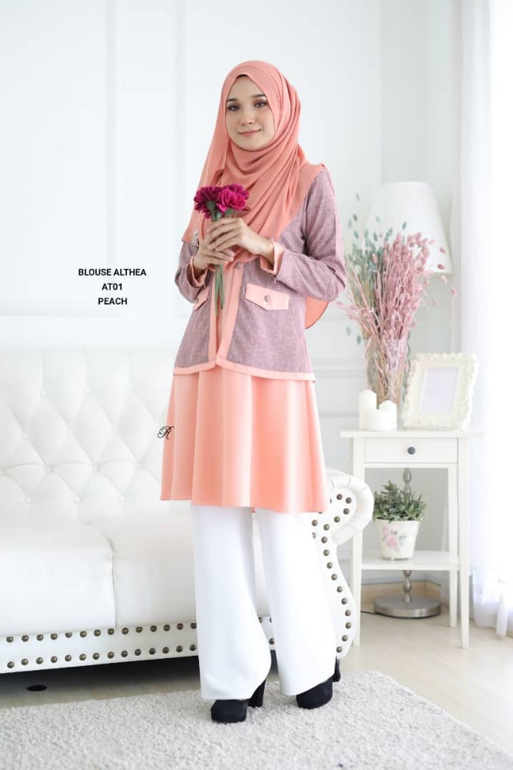 BLOUSE MUSLIMAH 2019 MODEN ALTHEA AT01 1