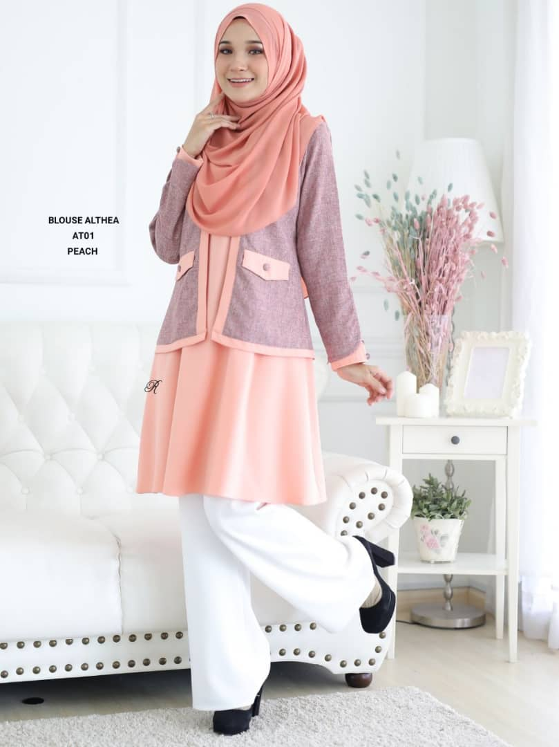 BLOUSE MUSLIMAH 2019 MODEN ALTHEA AT01 2