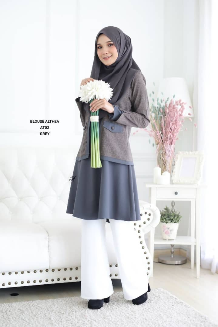 BLOUSE MUSLIMAH 2019 MODEN ALTHEA AT02 1