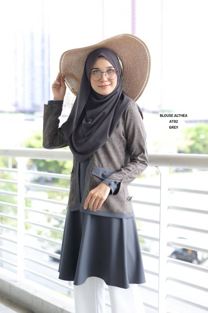 BLOUSE MUSLIMAH 2019 MODEN ALTHEA AT02 2