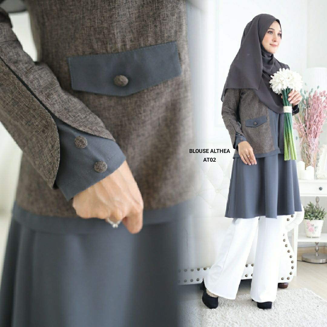 BLOUSE MUSLIMAH 2019 MODEN ALTHEA AT02 3