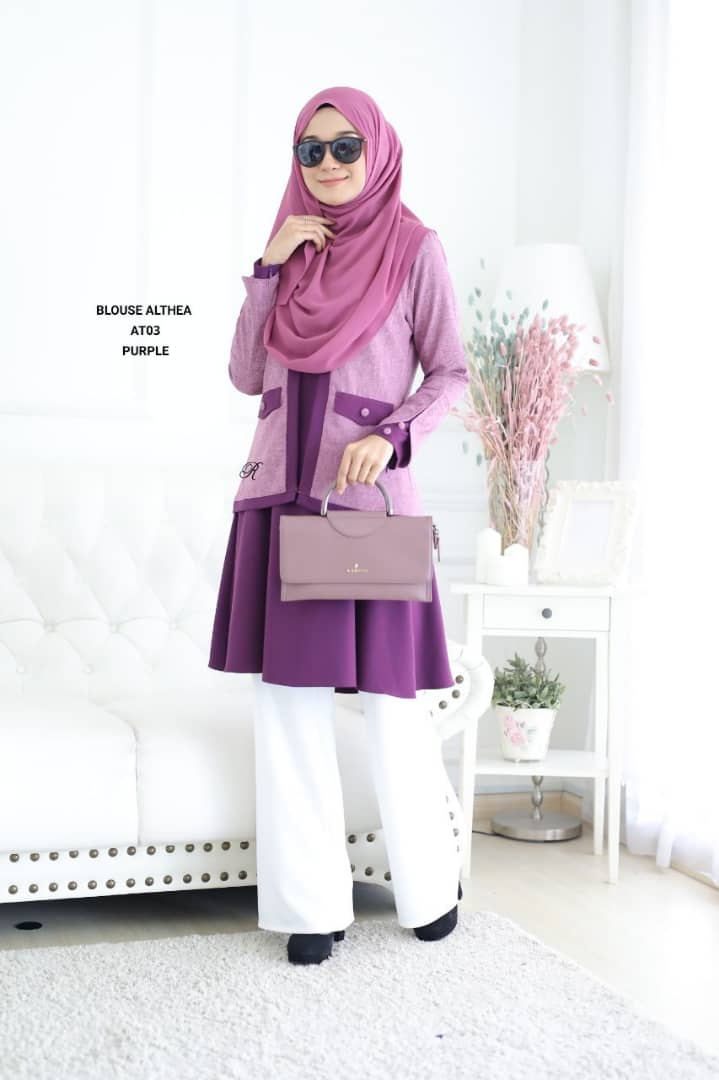 BLOUSE MUSLIMAH 2019 MODEN ALTHEA AT03 1