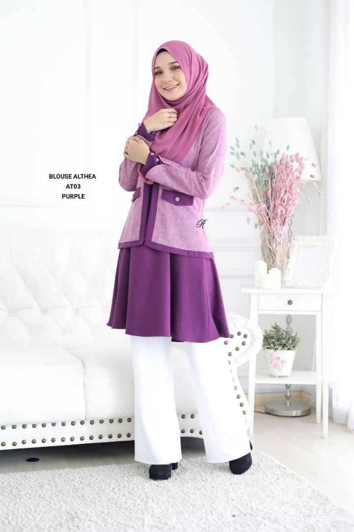 BLOUSE MUSLIMAH 2019 MODEN ALTHEA AT03 2